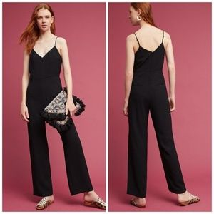 NEW Anthropologie The Essential Jumpsuit Black